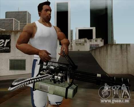 Renegades Minigun Black pour GTA San Andreas troisième écran