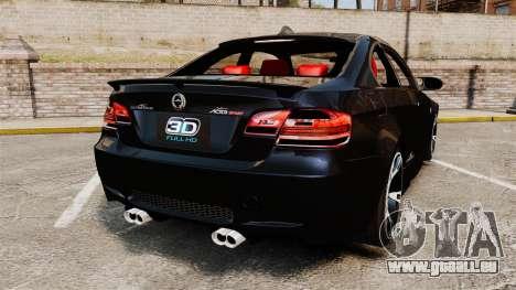 BMW M3 E92 AC Schnitzer ACS3-Sport v2.0 pour GTA 4 Vue arrière de la gauche