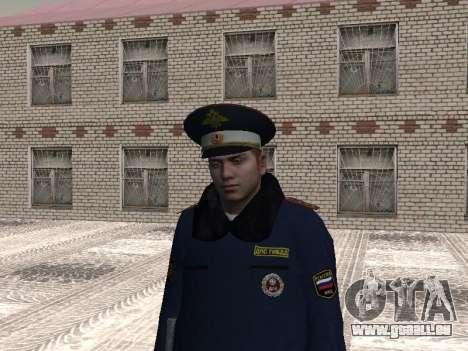 Pak policiers en uniformes d'hiver pour GTA San Andreas quatrième écran