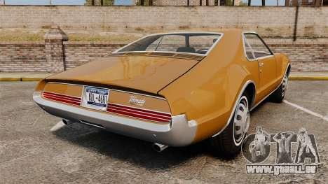 Oldsmobile Toronado 1966 für GTA 4 hinten links Ansicht
