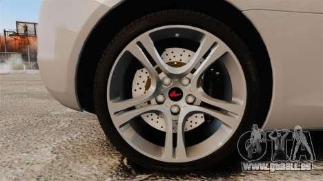McLaren MP4-12C 2012 [EPM] pour GTA 4 Vue arrière