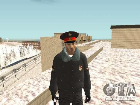 Pak policiers en uniformes d'hiver pour GTA San Andreas huitième écran