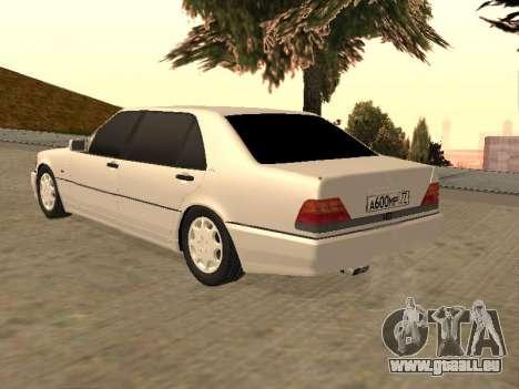 Mercedes-Benz S600 W140 für GTA San Andreas linke Ansicht