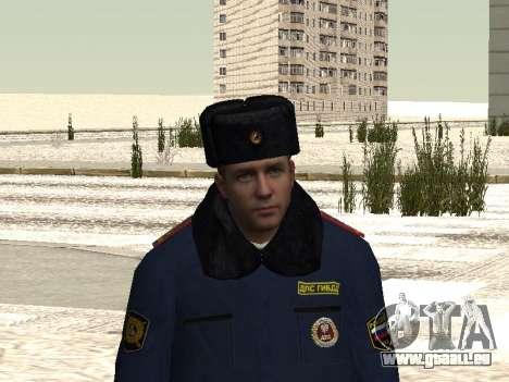 Pak policiers en uniformes d'hiver pour GTA San Andreas