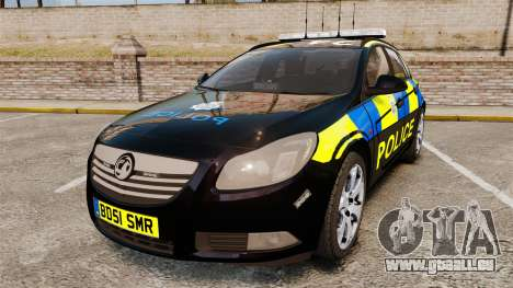 Vauxhall Insignia Sports Tourer Police [ELS] pour GTA 4