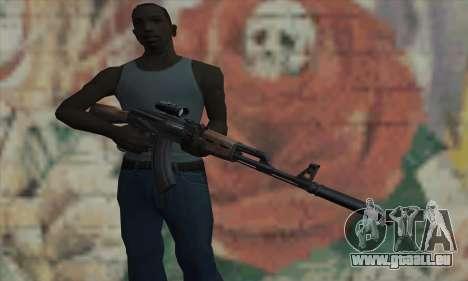 AK-47 Silencer für GTA San Andreas dritten Screenshot