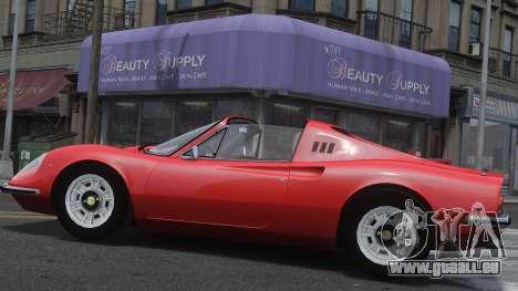 Ferrari Dino 246 GTS pour GTA 4 est une gauche