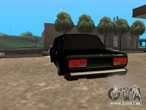 VAZ 2107 v1.2 Final pour GTA San Andreas sur la vue arrière gauche