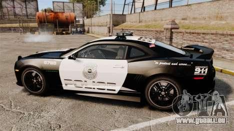 Chevrolet Camaro Police [ELS-EPM] für GTA 4 linke Ansicht