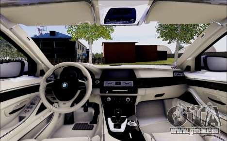 BMW 550 F10 xDrive für GTA San Andreas Innenansicht