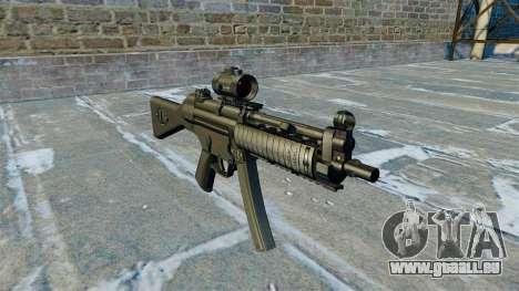 Mitraillette MP5 RIS Nom900a pour GTA 4