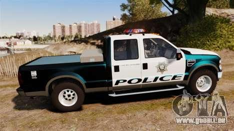 Ford F-250 Super Duty Police [ELS] für GTA 4 linke Ansicht
