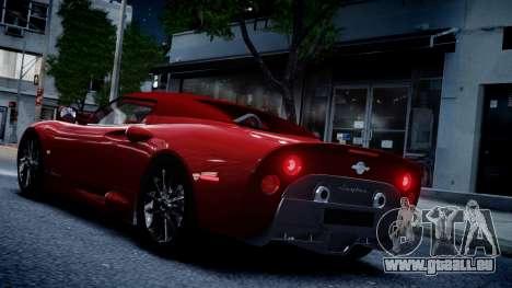 Spyker C8 Aileron Spyder v2.0 pour GTA 4 Vue arrière