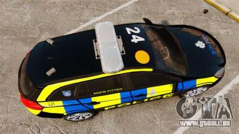 Vauxhall Insignia Sports Tourer Police [ELS] für GTA 4 rechte Ansicht
