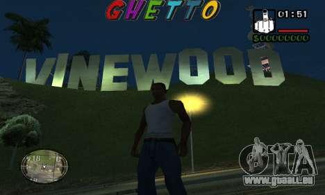 Шапка Ghetto par Nick Quête pour GTA San Andreas deuxième écran