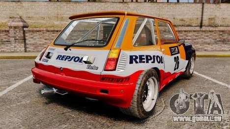 Renault 5 Maxi Turbo für GTA 4 hinten links Ansicht