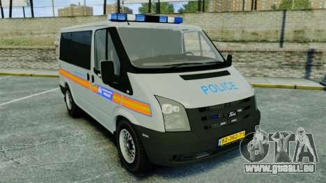 Ford Transit Metropolitan Police [ELS] für GTA 4
