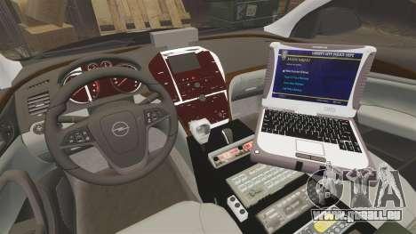 Vauxhall Insignia Sports Tourer Police [ELS] für GTA 4 Rückansicht