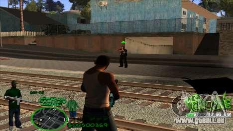 C-HUD Groove by HARDy pour GTA San Andreas troisième écran