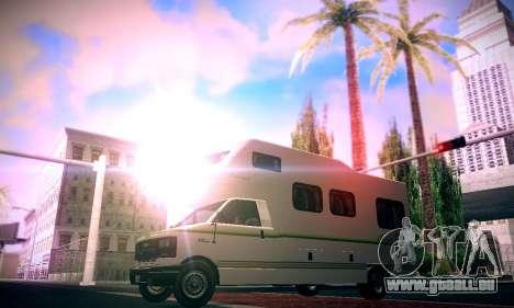GTA V Camper pour GTA San Andreas sur la vue arrière gauche