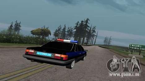 Audi 100 de la Police ОБЭП pour GTA San Andreas vue de droite