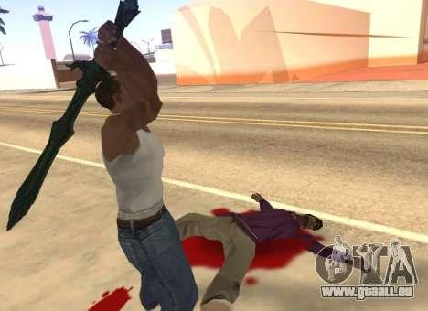 Verre Épée de Skyrim pour GTA San Andreas cinquième écran