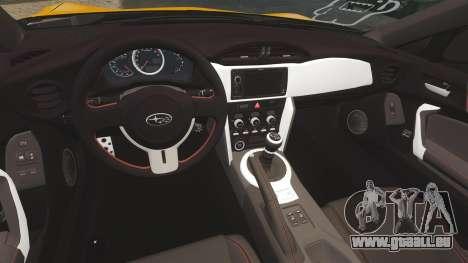 Subaru BRZ 2013 für GTA 4 Innenansicht