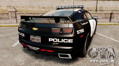 Chevrolet Camaro Police [ELS-EPM] für GTA 4 hinten links Ansicht