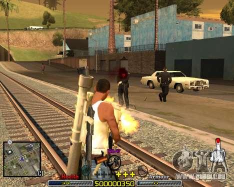 C-HUD Crime Ghetto pour GTA San Andreas deuxième écran