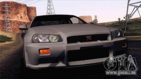 Nissan Skyline GT-R R34 V-Spec Lexani Rims für GTA San Andreas