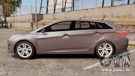 Hyundai i40 2013 Unmarked Police [ELS] pour GTA 4 est une gauche