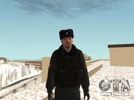 Pak policiers en uniformes d'hiver pour GTA San Andreas neuvième écran