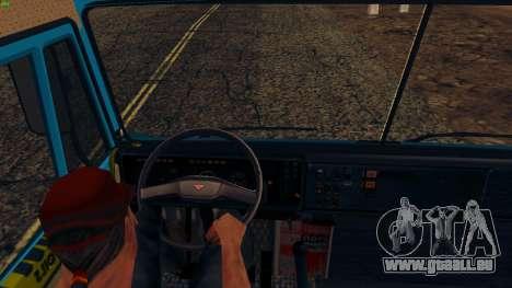 KamAZ-4310 für GTA San Andreas Rückansicht