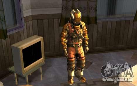 Isaac Clark in E.V.A Suit pour GTA San Andreas deuxième écran