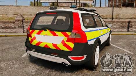 Volvo XC70 Emergency Response Unit [ELS] pour GTA 4 Vue arrière de la gauche