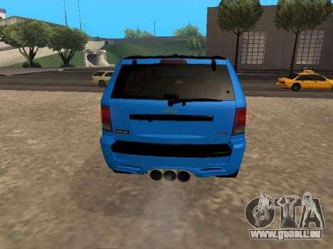 Jeep Grand Cherokee SRT8 Restyling M pour GTA San Andreas vue de droite