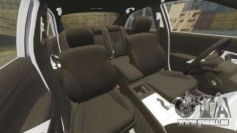 Toyota Camry für GTA 4 Unteransicht