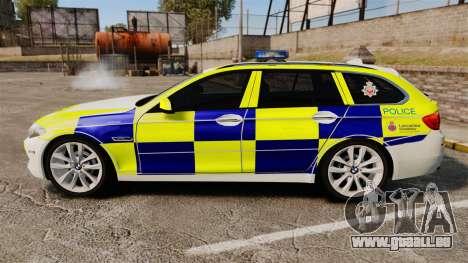 BMW 530d Touring Lancashire Police [ELS] für GTA 4 linke Ansicht