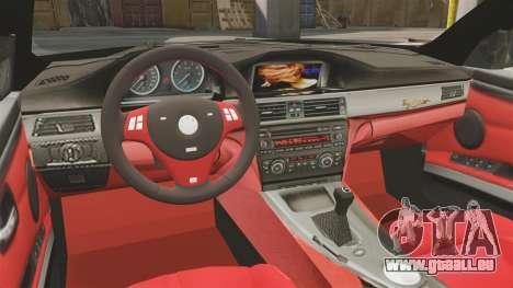 BMW M3 E92 AC Schnitzer ACS3-Sport v2.0 pour GTA 4 est une vue de l'intérieur