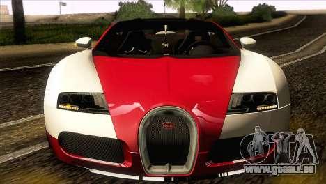 Bugatti Veyron 16.4 für GTA San Andreas Rückansicht