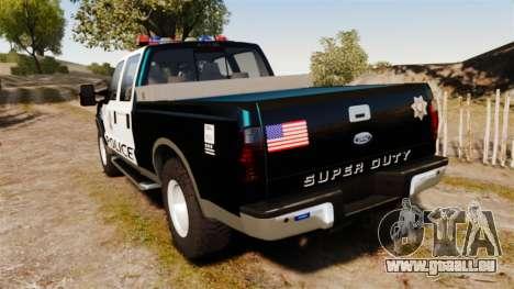 Ford F-250 Super Duty Police [ELS] pour GTA 4 Vue arrière de la gauche