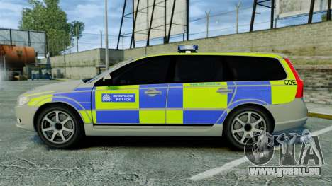 Volvo V70 Metropolitan Police [ELS] pour GTA 4 est une gauche
