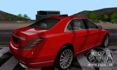 Mercedes-Benz W222 für GTA San Andreas Rückansicht