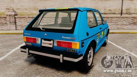 Volkswagen Rabbit GTI 1984 pour GTA 4 Vue arrière de la gauche
