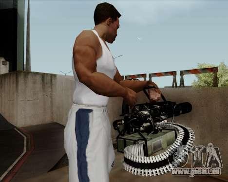 Renegades Minigun Black pour GTA San Andreas quatrième écran