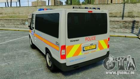 Ford Transit Metropolitan Police [ELS] für GTA 4 hinten links Ansicht