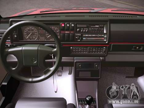 Volkswagen Golf Mk2 pour GTA San Andreas vue de côté