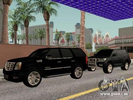 Cadillac Escalade 2010 pour GTA San Andreas vue arrière