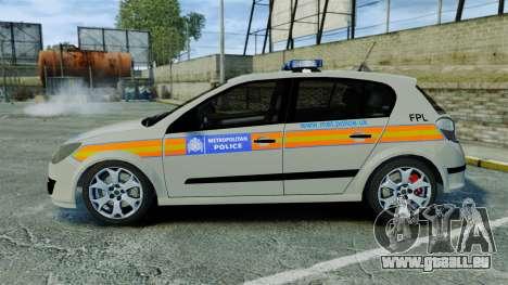 Vauxhall Astra Metropolitan Police [ELS] für GTA 4 linke Ansicht