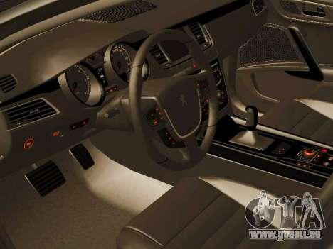 Peugeot 508 2011 v2 für GTA San Andreas Rückansicht